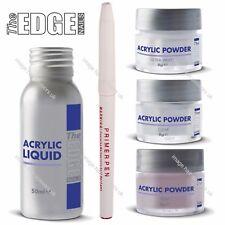 Nail Acrylic Powder & Liquid Starter Beginner Trial Kit by THE EDGE False Nails