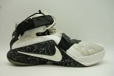 best service 04be0 738fc Nike Lebron IX 9 White Black Soldier Basketball High Top Sneakers Shoes  Men s 12