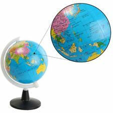 Teaching Aid World Globe With Swivel Stand Geography Atlas Map Tellurion Toy
