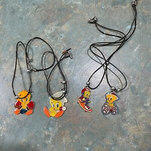 4 x Vintage Tweety Bird Necklaces
