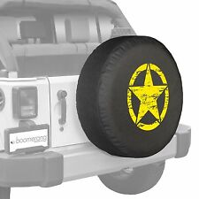 "32"" Oscar Mike Star - Spare Tire Cover - Jeep Wrangler Freedom Edition - Yellow"