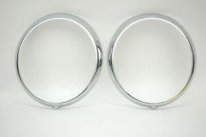 Porsche 911 930 H-4 Beauty Ring Headlight Rings Chrome 91163114100