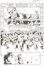 Fantastic Four #503 (74) p.4 - Crowd of People - 2003 art by Howard Porter Comic Art