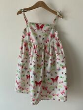 Girls Debenhams Blue Zoo Age 5-6 Floral Butterfly Dress