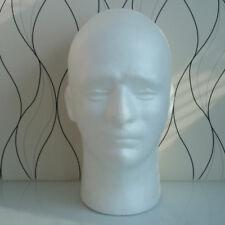 Male Mannequin Doll Heads Foam Manikin Training Head Model Wig Glasses Hat Stand
