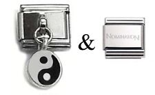 Genuine Nomination Link plus 1 x D23 Italian Dangle Charm Yin and Yang