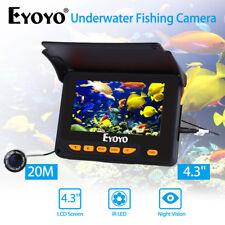 "4.3"" Monitor+20m 1000Tvl Hd Underwater Night Vision Camera Video Ice Fish R1"