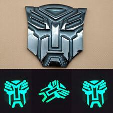 Metal Black Self-luminous Transformers Autobot Badge Emblem Decal Car Stickers