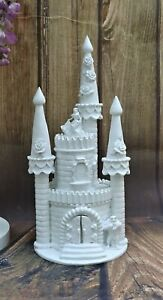 WHITE HAND MADE BEAUTY & THE BEAST FAIRY TALE CASTLE WEDDING CAKE TOPPER