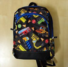 "New Kids Boys 15"" Cars Printed Zip Front Pocket School Backpack"