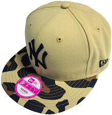 New Era Nueva York Yankees Estampado Safari GORRA SNAPBACK Negro 9fifty béisbol,