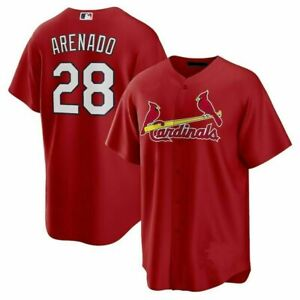 Nolan Arenado St. Louis Cardinals Fanmade Baseball Jersey Red