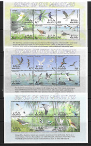 Maldive Is the three BIRDS Mini Sheets   MINT NH