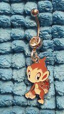 CHIMCHAR Pokemon  Belly Ring Navel Ring 14G Surgical Steel Dangle