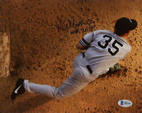 MIKE MUSSINA SIGNED AUTOGRAPHED 8x10 PHOTO + HOF 19 NEW YORK YANKEES BECKETT BAS