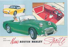Austin Healey Sprite Frogeye Large Format MODERN postcard by Jenna