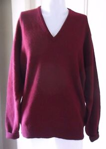 High & Mighty Pure Wool VNeck Pullover Sweater Mens XLT Tall Scotland Vintage