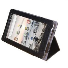 "NEW Black Folio PU Leather Stand Case Cover for Coby Kyros 7"" Tab MID7012 Tablet"