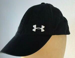 UA Under Armour Women's Black Adjustable 100% Cotton Low Profile Cap/Hat