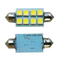 2X Blanc 42mm 8 SMD LED 12V Lumiere de plaque d'immatriculation Ampoule Lampe WT