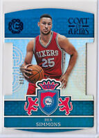 2016-17 BEN SIMMONS Panini Excalibur Coat Of Arms Blue Rookie RC SP /199 76ers