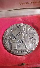 SUP MEDAILLE bronze argente ART DECO LE FER signé G.RIDET B46