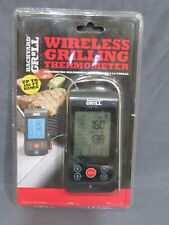 New listing New Sealed Backyard Grill Wireless Grilling Thermometer 100 Ft. Range Black By15