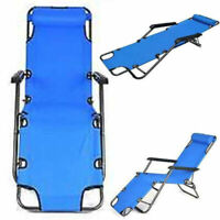 Folding Reclining Patio Chaise Lounge Chair Pool Yard Lawn Lounge Chair