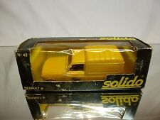 SOLIDO 42 RENAULT 4 FOURGONETTE - POSTES YELLOW 1:43 - GOOD CONDITION IN BOX