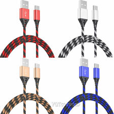 2-Pack 6FT Long Cable Heavy Duty Charger Charging For Samsung S8 S9 S10 A70 A80