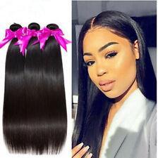 16 inch Brazilian Hair Weave 3 Bundles Straight 100% Human Hair Natural Color