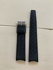 Vintage Tropic Sport Rubber Watch Bracelet Original 19mm Curved Ends