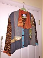 SURYA II Anthropologie  SUPER SASSY CHIC SPORTS Leopard JACKET WOMENS SIZE OX