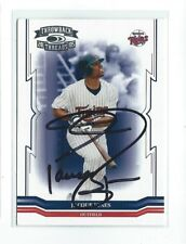 Jacque Jones Signed 2005 Donruss Throwback  Card #11