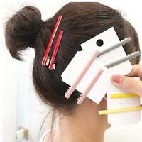 Rectangle Women Long Acrylic Barrettes Hairpins Duckbill Clip Hair Accessories