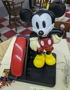 Vintage  Disney Mickey Mouse Corded Land Line Touch Tone Telephone 1996 WORKS