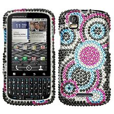 Bling Rhinestone Protector Case for Motorola Droid Pro - Diamond Bubbles