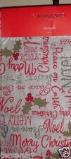 """New Cynthia Rowley Table Runner 14x72"""" Christmas Holiday Beaded Silver Red Green"""