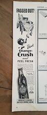 1944 drink Orange Crush Soda and feel fresh ribbed bottle ad