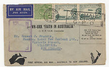 Air Mail Flugpost Australien Neuseeland 1934 Australia New Zealand Brief Letter