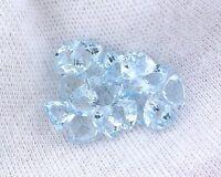 ONE 5mm Trillion Natural Light Blue Brazilian Aquamarine Gemstone Gem Stone 8059