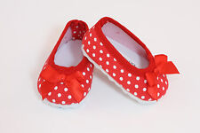 "Red w/ White Polka dot Ballet Flats made for 18"" American Girl Doll Clothes"