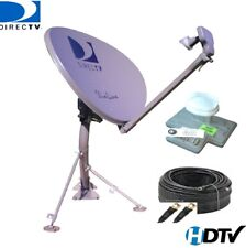 DIRECTV SWM 3-LNB SLIMLINE KA KU DISH SL3 MPEG4 HD LONG PIPE + RG6 CABLE +POWER