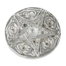 """Woodland Pentagram Altar Tile 2.75"""" Silver Plated Incense Burner Wicca Pagan NEW"""