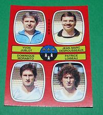 N°378 JUBLOT DESROUSSEAUX MORABITO LOISEAU TOURS D2 PANINI FOOTBALL 87 1986-1987