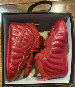 NEW NIKE LIL POSITE Pro TODDLER SHOES Red October Yeezy Foamposite RARE SIZE 4C