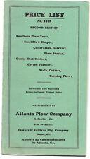1928 Atlanta Plow Company Catalog, price list ATLANTA GEORGIA; illustrated 47pgs