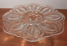 "Eapg Antique Glass ""Lattice Leaf"" By Flint 9 5/8"" Cake Stand Ci 1905"