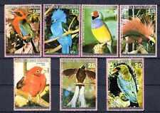 Oiseaux Guinée équatoriale (25) série complète de 7 timbres oblitérés