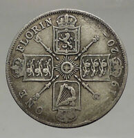 1920 GREAT BRITAIN UK United Kingdom King George V Big SILVER FLORIN Coin i56655